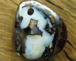 18cts, YOWAH OPAL~DRILLED STONE.