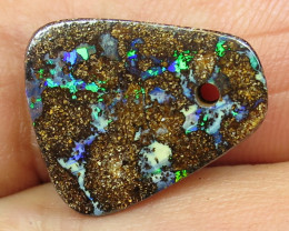 8cts, BOULDER OPAL~GEM FLASH DRILLED STONE.
