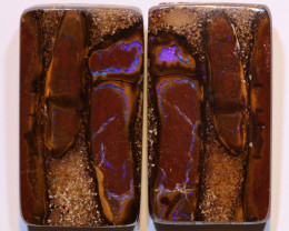 Yowah Boulder Opal Polished Pair AOH-299 - australianopalhunter