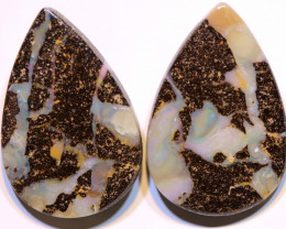 Boulder Opal Polished Pair AOH-300 - australianopalhunter