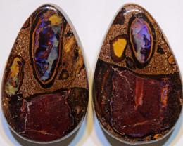 Yowah Boulder Opal Polished Pair  AOH-302 - australianopalhunter