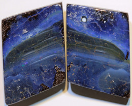 Boulder Opal Polished Pair 62 Carats AOH-304