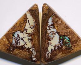 Yowah Opal Wood Fossil Polished Pair AOH-308