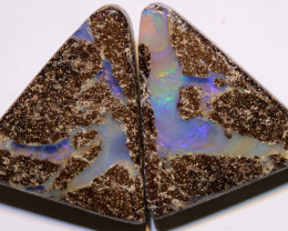 Boulder Opal Polished Pair AOH-311 - australianopalhunter