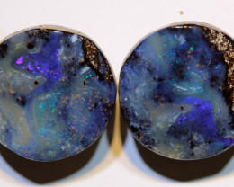 Boulder Opal Polished Pair 27 Carats AOH-315