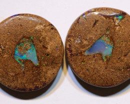 Boulder Opal Pipe Polished Pair 19 Carats AOH-319
