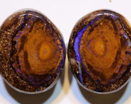 Yowah Opal Polished Pair 22 Carats AOH-320
