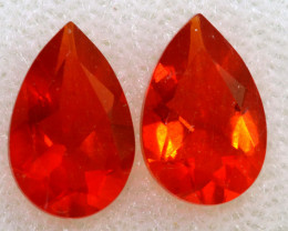 1.07 CTS MEXICAN FACETED FIRE OPAL PAIR FOB -2518