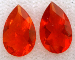 1.01 CTS MEXICAN FACETED FIRE OPAL PAIR FOB - 2528