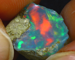 9.00Ct Multi Color Play Ethiopian Welo Opal Rough JF1629/R2