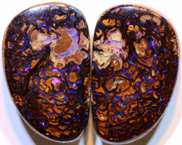 Yowah Boulder Opal Polished Pair  AOH-322 - australianopalhunter