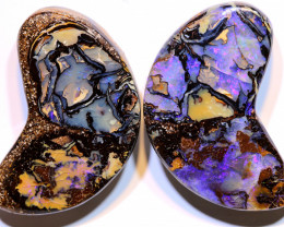 Yowah Opal Polished Pair 79.80Carats AOH-323