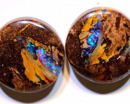 Yowah Opal Polished Pair 31.95Carats AOH-324