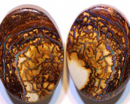 Yowah Opal Polished Pair 66.30Carats AOH-326