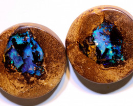 Boulder Opal Pipe Polished Pair 41.45 Carats AOH-329