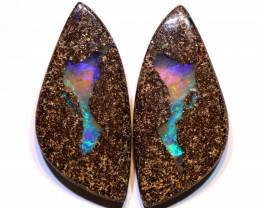 Boulder Opal Polished Pair 37.25Carats AOH-330