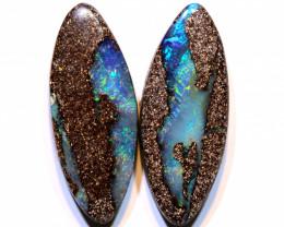 Boulder Opal Polished Pair 25.70Carats AOH-332