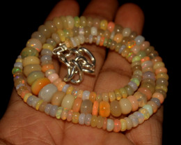 75 Crts Natural Ethiopian Welo Opal Beads Necklace 3339