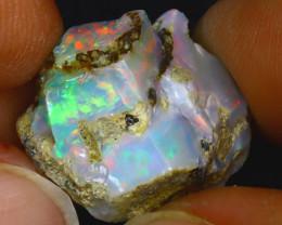 14.31Ct Multi Color Play Ethiopian Welo Opal Rough H1711/R2