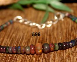 Ethiopian Welo Smoked Opal Bracelet 596