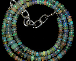 60 Crts Natural Ethiopian Welo Opal Beads Necklace 3287