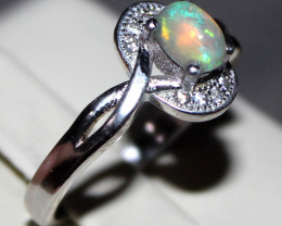 925 Silver Welo Opal ring  11