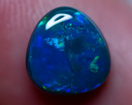 1.35 cts SOLID BLACK OPAL LIGHTNING RIDGE GEM $1 N/R AUCTION B0H150321