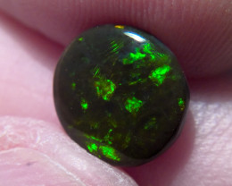 2.05ct Lighting Ridge Solid Gem Black Opal Muitiple Gem colors