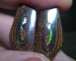 55.70 cts YOWAH NUT Boulder opal pair