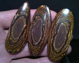 350 cts, 3 pieces YOWAH NUT Boulder opal collection, natures arts