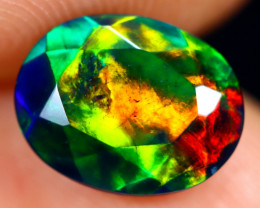 1.61cts Natural Ethiopian Faceted Smoked Welo Opal / BF6664