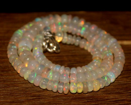81 Crts Natural Ethiopian Welo Opal Beads Necklace 3405