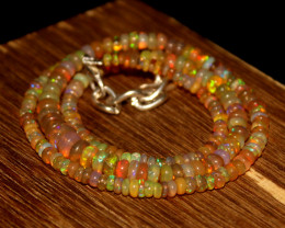 55 Crts Natural Ethiopian Welo Opal Beads Necklace 3412