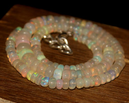 94 Crts Natural Ethiopian Welo Opal Beads Necklace 3414