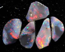 5.65cts lightning ridge opal pre shaped rubs ADO-8579-adopals