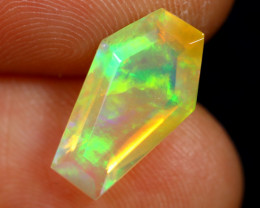 2.15cts Natural Ethiopian Coffin Cut Double Faceted Welo Opal /BF6735