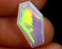 2.69cts Natural Ethiopian Coffin Cut Double Faceted Welo Opal /BF6736