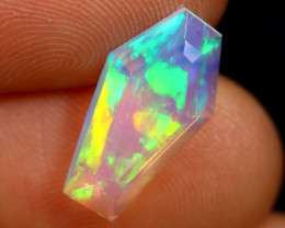2.09cts Natural Ethiopian Coffin Cut Double Faceted Welo Opal /BF6737