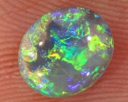 0.8ct 7.5x6.4mm Solid Lightning Ridge Crystal Opal [LO-2818]