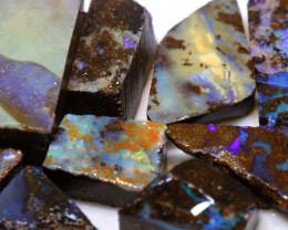 185cts boulder opal rough parcel DT-A4794