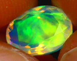 Welo Opal 1.34Ct Natural Ethiopian Play of Color Opal JF2018/A44