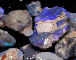 150cts lightning ridge black opal rough parcel ADO-8646