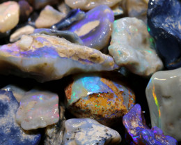 150cts lightning ridge black opal rough parcel ADO-8648