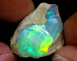 16cts Natural Ethiopian Welo Rough Opal / WR7334