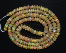 30.30 Ct Natural Ethiopian Welo Opal Beads Play Of Color OB327