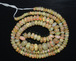 45.30 Ct Natural Ethiopian Welo Opal Beads Play Of Color OB331