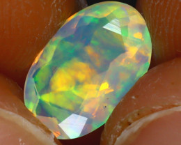 Welo Opal 1.28Ct Natural Ethiopian Play of Color Opal HF2116/A44