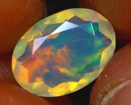 Welo Opal 1.90Ct Natural Ethiopian Play of Color Opal HF2117/A44