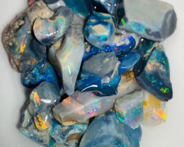 Black & Semi Black Opals with Bright Colour Bars - Please Watch the Video