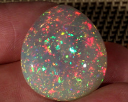 32.55CT~STUNNING ETHIOPIAN WELO OPAL CAB~WITH PINFIRE/CONFETTI PATTERN!!!